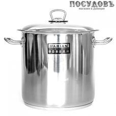 Hascevher Gastro 1603.011 кастрюля с крышкой 17,0 л, Ø280 мм, сталь нержавеющая, капсульное дно