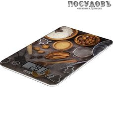 MYSTERY MES-1820 весы кухонные-платформа, до 5,0 кг, цвет темный с рисунком, гарантия 1 год