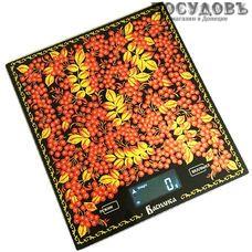 Василиса 004-ВА Рябина весы кухонные-платформа, 200×180×15 мм, до 5 кг, гарантия 1 год