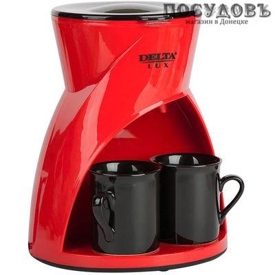 Delta Lux DL-8131 кофеварка капельная, 450 Вт, 300 мл, цвет красный