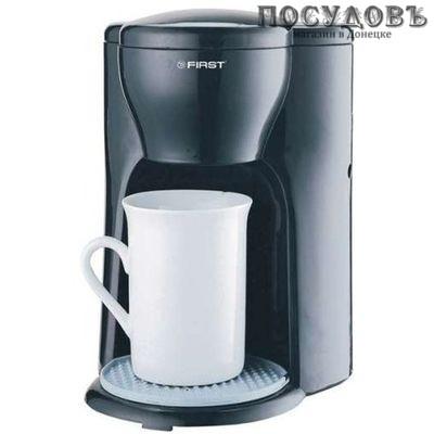 First TZC-2 кофеварка капельная, 330 Вт, 0,3 бар, 125 мл, цвет черный