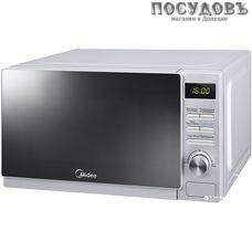 Midea AG720C4E-S отдельностоящая микроволновая печь, 700 Вт, с грилем 1000 Вт, 20 л, серебро