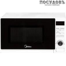 Midea AG720C4E-W отдельностоящая микроволновая печь, 700 Вт, с грилем 1000 Вт, 20 л, белая