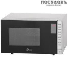 Midea AS823EXG отдельностоящая микроволновая печь, 700 Вт, с грилем 800 Вт, 23 л, серебро