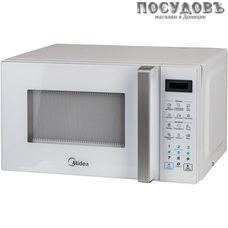 Midea EG820CXX-W отдельностоящая микроволновая печь, 800 Вт, с грилем 1000 Вт, 20 л, белая