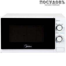 Midea MM720C4E-W отдельностоящая микроволновая печь, 700 Вт, обычная (соло) Вт, 20 л, белая