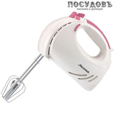 Аксинья КС-403 миксер ручной, цвет белый с темно-розовым