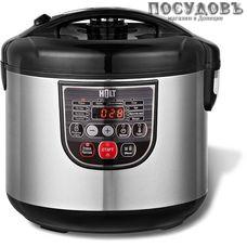 HOLT HT-MC-004 мультиварка 800 Вт, 10 программ, чаша 5 л, керамическое покрытие, цвет металлик с черным