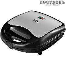 HOLT HT-SC-002 сэндвичница, 750 Вт, цвет металлик с черным