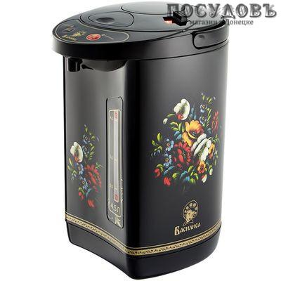 Василиса ТП5-900 термопот 4,5 л, 900 Вт, черный с рисунком
