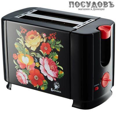 Василиса ВА-102 тостер 700 Вт, цвет черный с рисунком