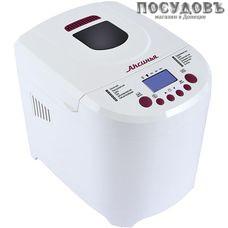 Аксинья КС-5500 хлебопечь, 650 Вт антипригарное покрытие, 12 программ, цвет белый с бордовым