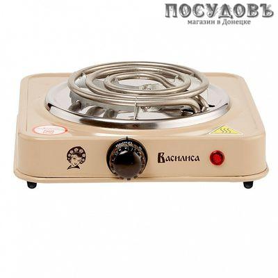 Василиса ВА-901 плита электрическая 1-конфорочная 1000 Вт, цвет бежевый