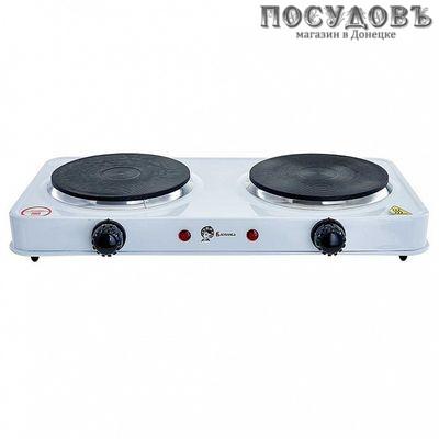 Василиса ВА-903 плита электрическая 2-конфорочная 2000 Вт, цвет белый