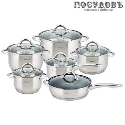 KING Hoff  KH-4450 набор посуды для приготовления, сталь нержавеющая, 12 пр.