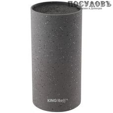 KING Hoff KH-1249 колода для ножей 110×220 мм, пластик, черный цвет 1 шт.