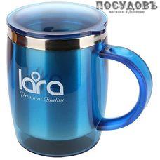 LARA LR04-37 термокружка, колба сталь нержавеющая 400 мл, цвет голубой