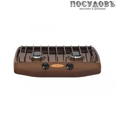 Gefest ПГ 700-02 плита газовая отдельностоящая, 2-конфорочная, эмалированное покрытие, коричневый