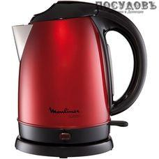 Moulinex Subito BY530531 электрочайник, 2400 Вт, 1700 мл, сталь нержавеющая, цвет красный
