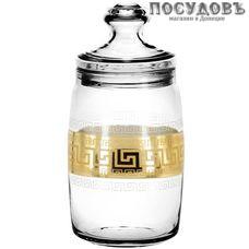 Гусь-Хрустальный Барокко EAV63-425 банка с герметичной крышкой, 1100 мл, стекло, Россия, в упаковке 2 пр.