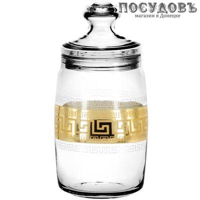 Гусь-Хрустальный Барокко EAV63-425 банка с герметичной крышкой, стекло, 1100 мл