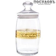 Гусь-Хрустальный Версаче EAV08-425 банка с герметичной крышкой, 1100 мл, стекло, Россия, в упаковке 2 пр.