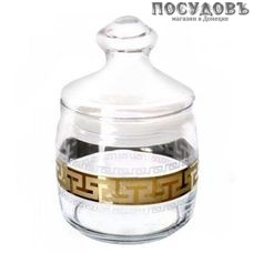Гусь-Хрустальный Греческий узор EAV03-425 банка с герметичной крышкой, 1100 мл, стекло, Россия, в упаковке 2 пр.