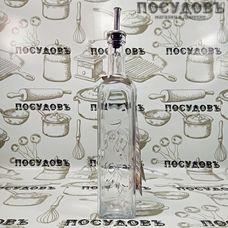 Pasabahce HomeMade 80229 бутылка с пробкой-дозатором, стекло, 330×60×60 мм, 500 мл, без упаковки 2 пр.