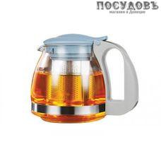 LARA LR06-19 чайник заварочный с фильтром, стекло термостойкое, 700 мл, цвет голубой