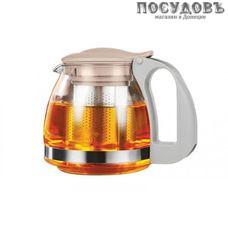 LARA LR06-19 чайник заварочный с фильтром, стекло термостойкое, 700 мл, цвет персиковый