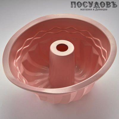 Webber BE-4222S розовая круглая форма для выпечки кекса, силикон Ø240×110 мм