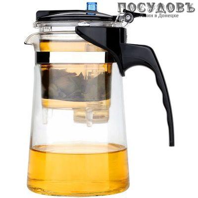 Webber BE-5588 чайник заварочный с дозатором, стекло термостойкое, 600 мл прозрачный