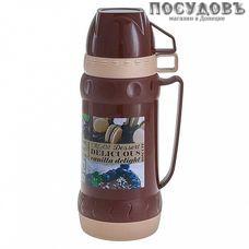 Alpenkok AK-10008S термос с крышкой-стаканом, колба стеклянная 1000 мл, цвет коричневый