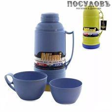 Mimi PNF160 термос с крышкой-стаканом, колба стеклянная 1600 мл, цвет темно-синий