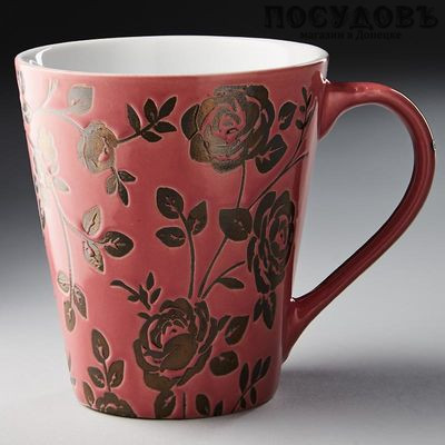 Rosario Радуга кружка розовый, 350 мл, керамика, 1 шт