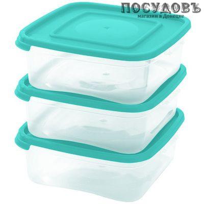 Полимербыт Каскад Квадро 4364001/4164001 контейнеры в наборе с крышкой, полипропилен, 700 мл