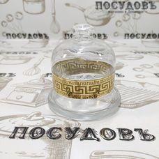 Гусь-Хрустальный Барокко EAV63-397 лимонница с крышкой, Ø100×105 мм, стекло, Россия, в упаковке 2 пр.