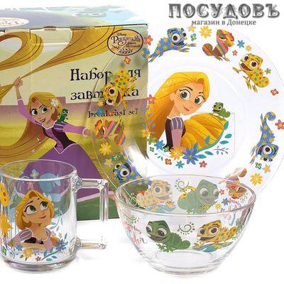 ОСЗ Рапунцель 18C2055RAP набор детской посуды, стекло упрочненное, 3 пр.