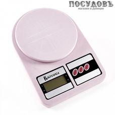 Василиса ВА-012 весы кухонные-платформа, сиреневый цвет, 240×170×40 мм, до 5 кг, гарантия 1 год