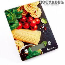 Василиса ВА-014  Итальянская кухня весы кухонные-платформа, 200×145×20 мм, до 5 кг, Россия, гарантия 1 год