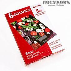 Василиса ВА-016 Моцарелла весы кухонные-платформа, 200×145×20 мм, до 5 кг, Россия, гарантия 1 год