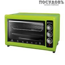 Delta D-0123 зеленая электрическая печь отдельностоящая 1300 Вт 37 л, без гриля, без конфорок, зеленая