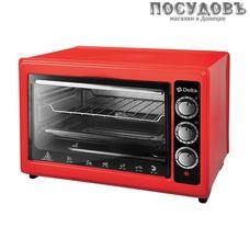 Delta D-0123 красная электрическая печь отдельностоящая 1300 Вт 37 л, без гриля, без конфорок, красная