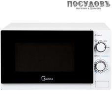 Midea MM720C4E-W отдельностоящая микроволновая печь, 700 Вт, 20 л, белая