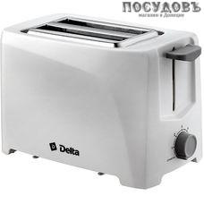 Delta DL-6900 тостер на 2 шт, 700 Вт, цвет белый