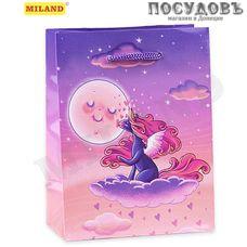 Dream cards Единорог на облаке ПП-4755 пакет подарочный, 310×220×100 мм, бумага, глянцевая ламинация