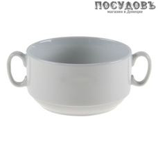 Добрушский фарфор 4С0677Ф34 бульонница, бельё, 470 мл, фарфор, Беларусь, без упаковки 1 шт.