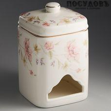 Beatrix Сан-Марино МН002Q банка для чайных пакетиков с крышкой, 80×130 мм, фарфор, Китай, в упаковке 2 пр.