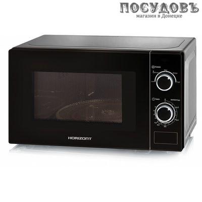 Horizont 20MW700-1378DMB микроволновая печь отдельностоящая 700 Вт, 20 л, цвет черный