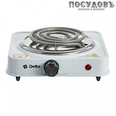 Delta D-703 плита электрическая 1-конфорочная 1000 Вт, цвет белый